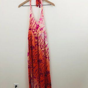 Tommy Bahama Printed Halter Maxi Dress S